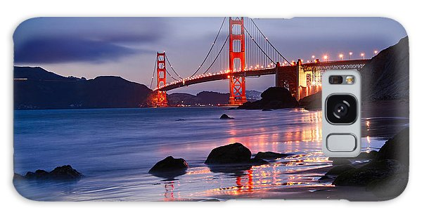 Architecture Galaxy Case - Twilight - Beautiful Sunset View Of The Golden Gate Bridge From Marshalls Beach. by Jamie Pham