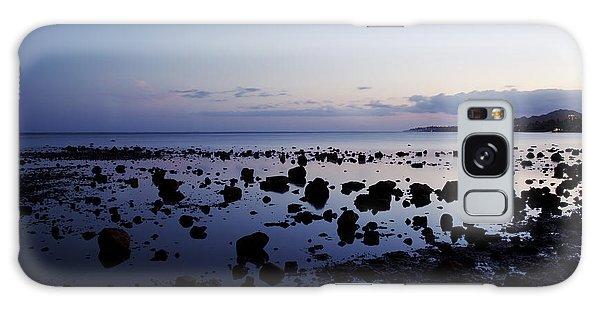 Twilight Glow Over Ocean Galaxy Case