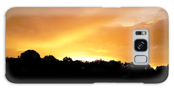 Twilight In Orange Galaxy Case by Carlee Ojeda