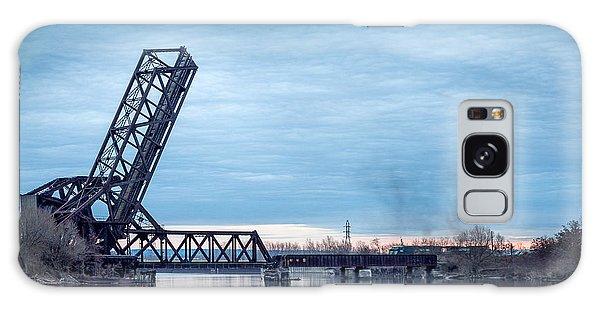 Twilight Locomotive Crossing Buffalo River Galaxy Case