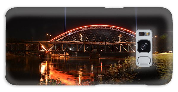 Twin Bridges At Night Galaxy Case