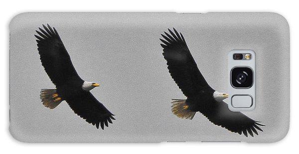 Twin Eagles In Flight Galaxy Case