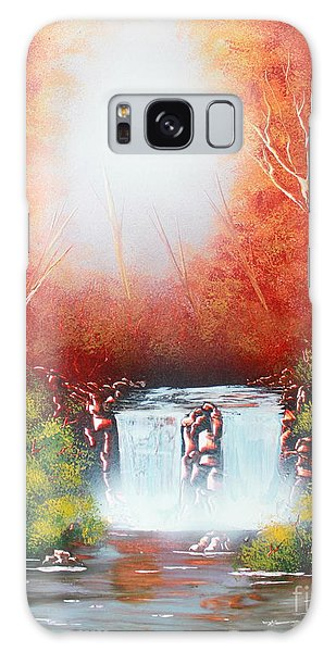 Twin Falls  Galaxy Case by Greg Moores