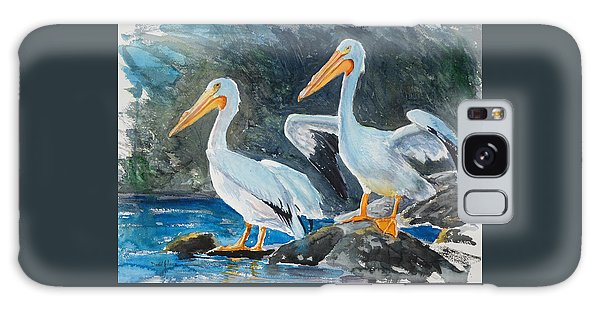 Da208 Twin Pelicans By Daniel Adams Galaxy Case