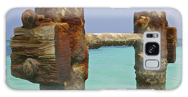 Twin Rusted Dock Piers Of The Caribbean Galaxy Case