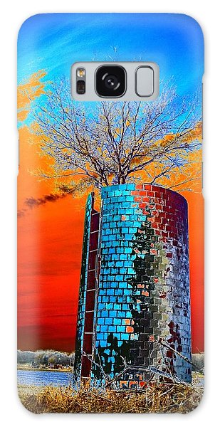 Twin Silos Galaxy Case by Karen Newell