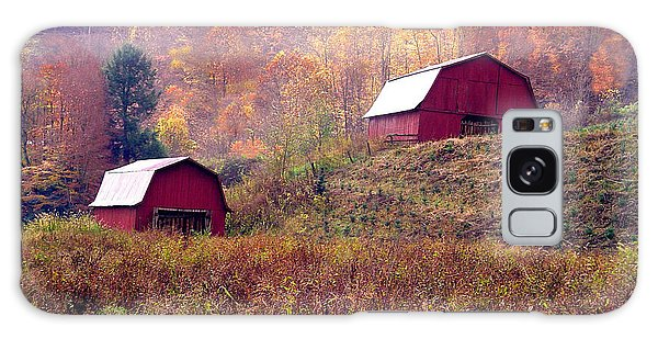 Twin Tobacco Barns Galaxy Case by Annlynn Ward