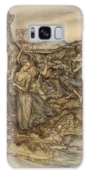Mythological Galaxy Case - Twining Wreaths Of Flowers by Arthur Rackham