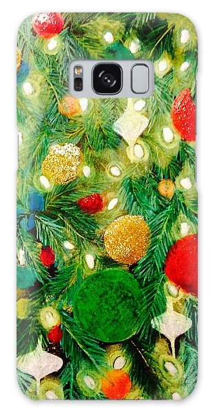 Twinkling Christmas Tree Galaxy Case