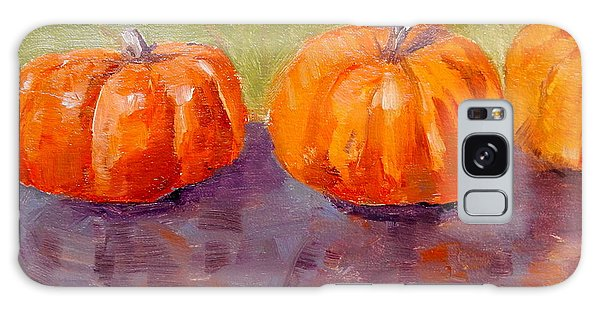 Two And A Half Pumpkins Galaxy Case by MaryAnne Ardito
