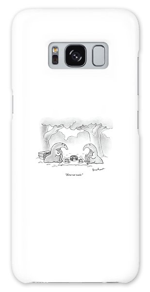 Ant Galaxy S8 Case - Two Anteaters On A Picnic Wait For Ants To Come by David Borchart
