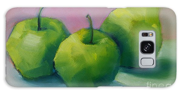Two Apples And One Pear Galaxy Case by Michelle Abrams