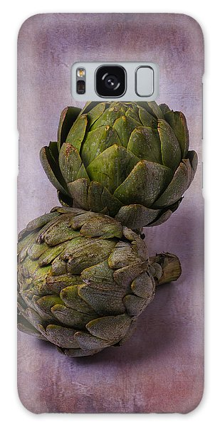 Two Artichokes Galaxy Case by Garry Gay