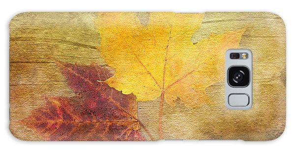 Two Autumn Leaves Galaxy Case