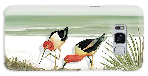 Two Avocets Galaxy Case