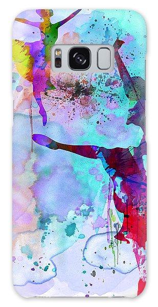 Ballerina Galaxy Case - Two Ballerinas Watercolor 4 by Naxart Studio
