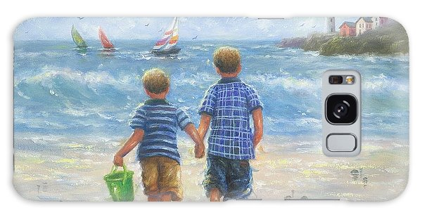 Brothers Galaxy Case - Two Beach Boys Walking by Vickie Wade