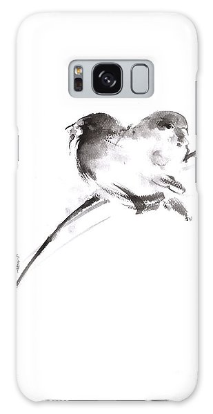 Two Birds Minimalism Artwork. Galaxy Case