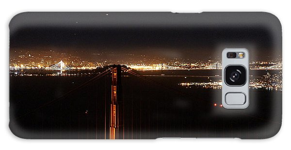 Two Bridges At Night Galaxy Case