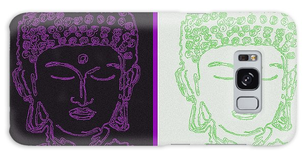Two Buddhas Galaxy Case by Christine Perry