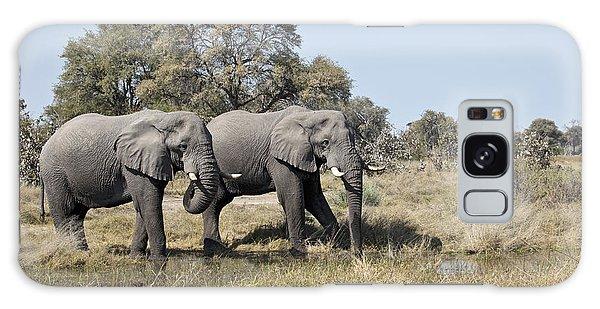 Two Bull African Elephants - Okavango Delta Galaxy Case