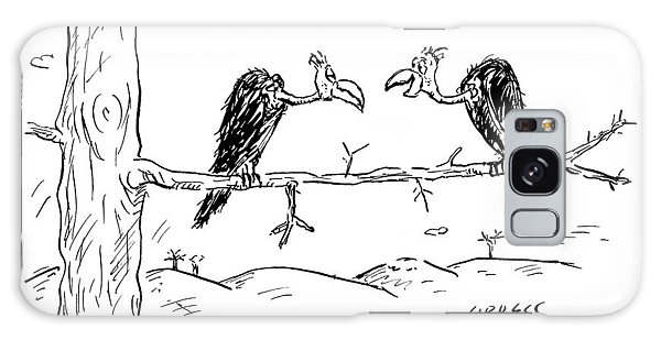 Two Buzzards Sit And Talk On A Branch Galaxy Case