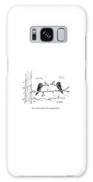 Buzzard Galaxy Case - Two Buzzards Sit And Talk On A Branch by David Sipress