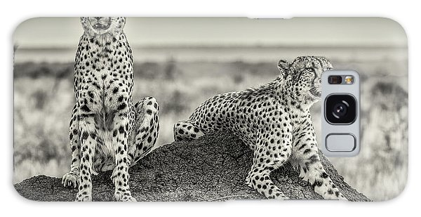Two Cheetahs Watching Out Galaxy Case