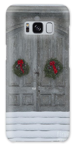 Two Christmas Wreaths Galaxy Case by Alana Ranney