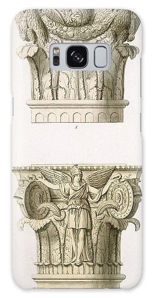 Decorative Galaxy Case - Two Column Capitals by English School