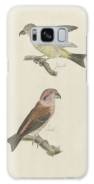 Two Crossbills, Possibly Christiaan Sepp Galaxy Case by Quint Lox