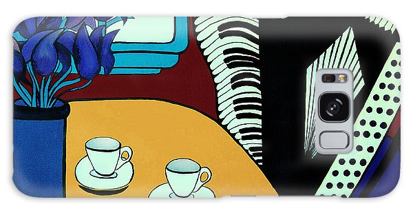 Two Cups One Accordian Galaxy Case by Barbara McMahon