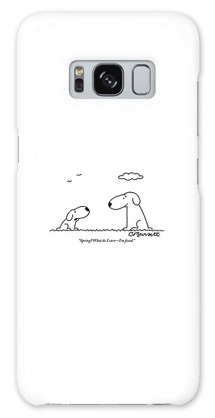 Two Dogs Are Seen Talking To Each Other Galaxy Case