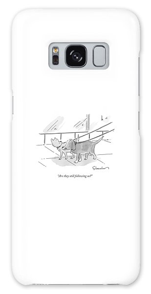 Leash Galaxy Case - Two Dogs On Leashes by Danny Shanahan