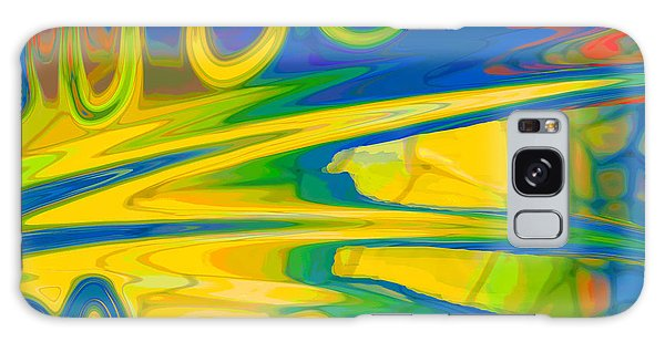 Two Fauvist Snakes Galaxy Case by Constance Krejci
