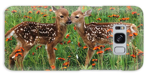 Two Fawns Talking Galaxy Case by Chris Scroggins