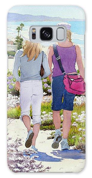 Two Girls At Dog Beach Del Mar Galaxy Case