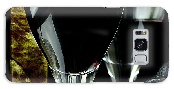 Two Glasses With Red Wine Galaxy Case