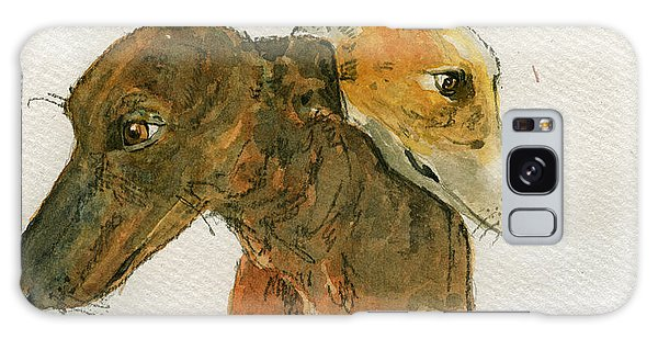 Sighthound Galaxy Case - Two Greyhounds by Juan  Bosco