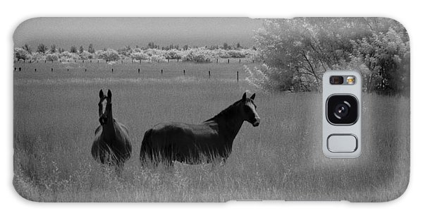 Two Horses Galaxy Case by Bradley R Youngberg
