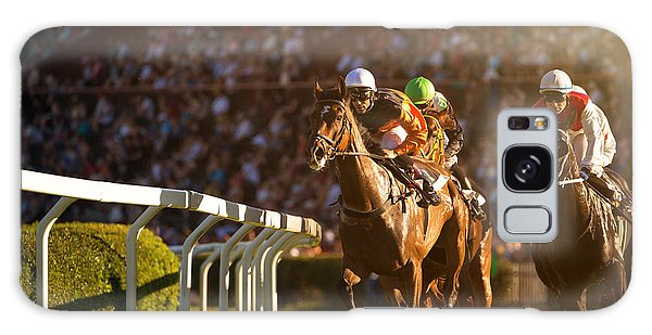 Gamble Galaxy Case - Two Jockeys During Horse Races On His by Vladimir Hodac