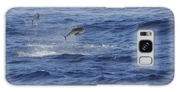 Two Jumping Yellowfin Tuna Galaxy Case