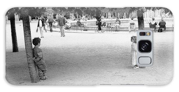 Two Kids In Paris Galaxy Case