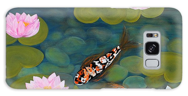 Two Koi Fish And Lotus Flowers Galaxy Case