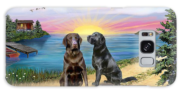 Two Labs At The Lake Galaxy Case