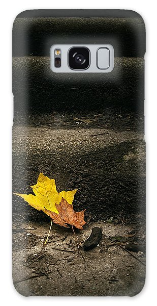 Maple Leaf Art Galaxy Case - Two Leaves On A Staircase by Scott Norris