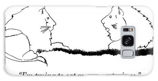 Two Lions Sit Conversing Galaxy Case