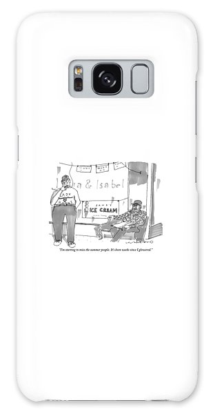 Missing Galaxy Case - Two Men Sit Outside An Ice Cream Shop Smoking by Michael Crawford