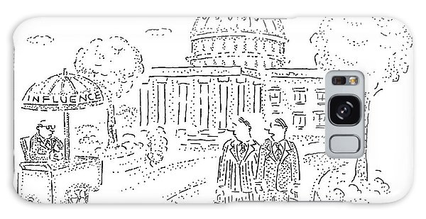 Influence Galaxy Case - Two Men Speak In Front Of The Capitol And Look by Robert Mankoff