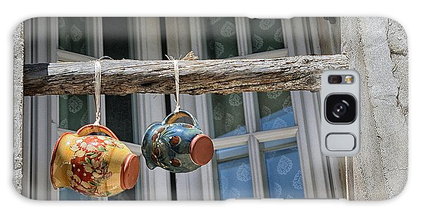 Two Mugs In A Window Galaxy Case by Sandra Anderson